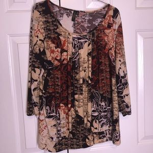 Women's Brown Printed Blouse